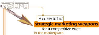 Brand Astra. A quiver full of strategic marketing weapons for a competitive edge in the marketplace.